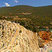 Panorama Of Porto Katsiki Famous Paradise Beach Art Print