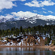 Panorama Of South Catamount Reservoir With Pike's Peak Covered I Art Print