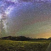 Panorama Of The Milky Way And Night Sky Art Print