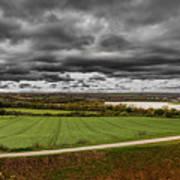 Panorama Of Wakefield's Fields Art Print
