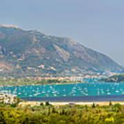 Panorama On Greek Island Art Print