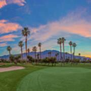 Panorama Palm Springs Golfing Art Print