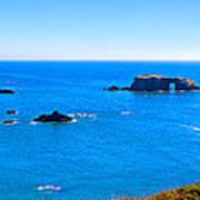 Panoramic California Coast Art Print