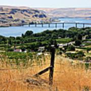 Panoramic Columbia River  Art Print