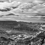 Panoramic Of The Grand Canyon Art Print