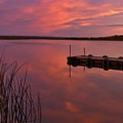 Panoramic Sunset Northern Lake Art Print