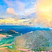 Panoramic Sunset On Mount Evans Art Print