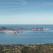 Panoramic View Across Calvi Bay And Revellata In Corsica Art Print