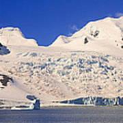 Panoramic View Of Glaciers And Iceberg Art Print