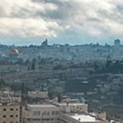 Panoramic View Of Old Jerusalem City Art Print