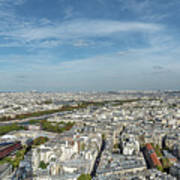 Panoramic View Of Paris From The Top Of The Tower Art Print
