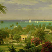 Panoramic View Of The Harbour At Nassau In The Bahamas Art Print by Albert Bierstadt