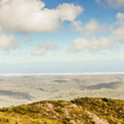Panoramic Views From Mount Zeehan To Trial Harbour Art Print