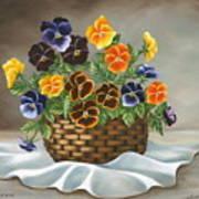 Pansy Basket Art Print