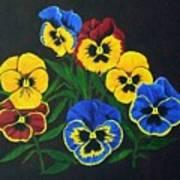 Pansy Lions Art Print