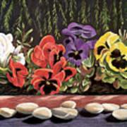 Pansy Palette Art Print