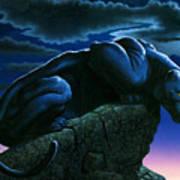Panther On Rock Art Print