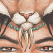 Panther Warrior Art Print