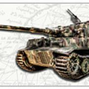 Panzer Tiger I Side Art Print