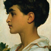Paolo Art Print by Frederic Leighton