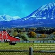 Paonia Mountain And Barn Art Print