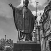 Papa Juan Pablo II - Mexico City Byn Art Print