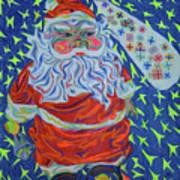 Papa Noel Des Etoilles Art Print