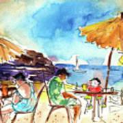 Papagayo Beach Bar In Lanzarote Art Print