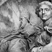 Papal Statues Inside St Peter's Basilica Art Print