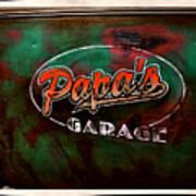 Papa's Garage Art Print