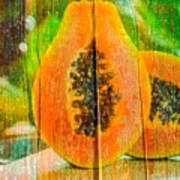 Papaya Dreaming Art Print
