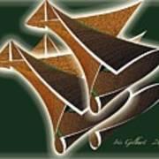 Paper Horns Art Print