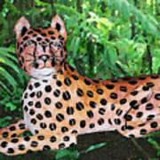 Paper Mache Leopard Art Print