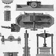 Paper Mill Diagram, 1814 Art Print