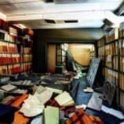 Papers Lodging - Luoghi Abbandonati Delle Passeggiate A Levante Deposito Carte  Art Print