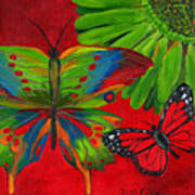 Papillon Rouge Art Print