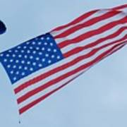Parachute And Flag Art Print