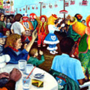 Parade Of Clowns In Nj Art Print