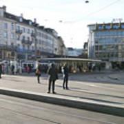 Paradeplatz - Bahnhofstrasse, Zurich Art Print