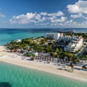 Paradise - Isla Mujeres - Playa Norte, Aerial Image Art Print