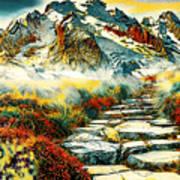 Paradise Mountain Art Print