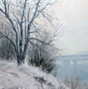 Paradise Point Bridge Winter Art Print