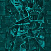 Paramount Turquoise Art Print