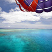 Parasail Over Fiji Art Print