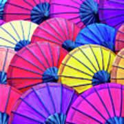Parasols Art Print