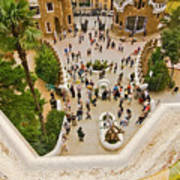 Parc Guell In Barcelona Art Print