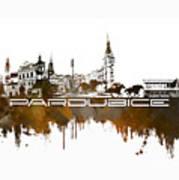 Pardubice Skyline City Brown Art Print