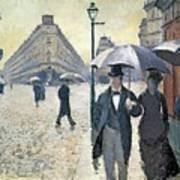 Paris a Rainy Day Art Print
