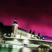 Paris At Night 18 Art Art Print