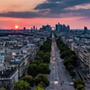 Paris, Avenue De La Grande Armee Art Print
